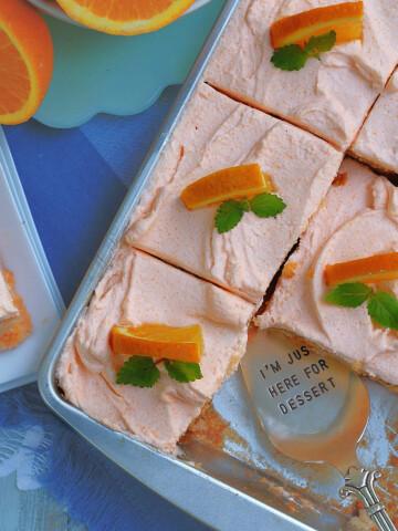 Best Orange Creamsicle Poke Cake