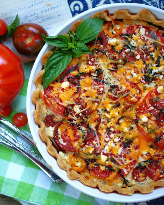 Heirloom Tomato Pie finish
