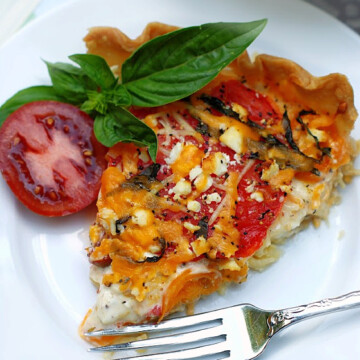 A slice of Heirloom Tomato Pie