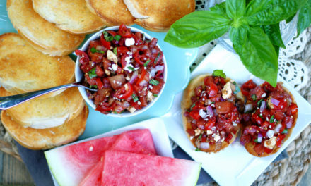 Summery Watermelon Bruschetta