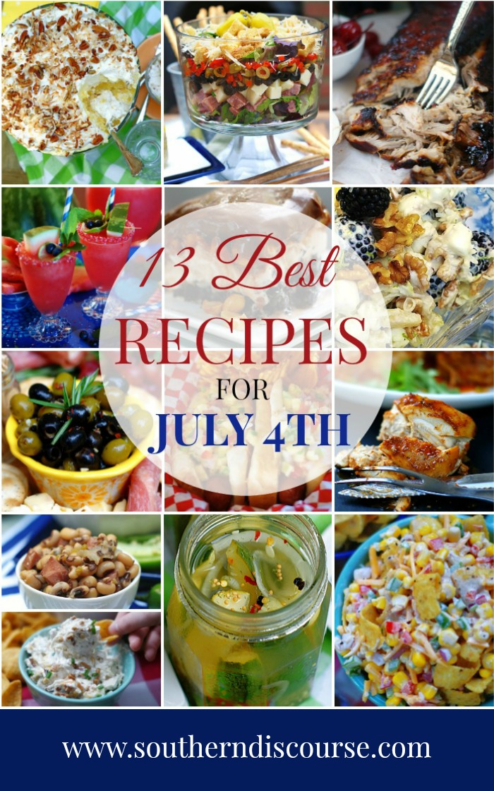 From appetizers and snacks to the grill, side dishes and desserts, this collection of recipes has everything you need to serve up a delicious July 4th! #july4threcipes #fourthofjulyrecipes #summerrecipes