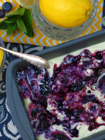 No Churn Blueberry Lemon Ice Cream Title
