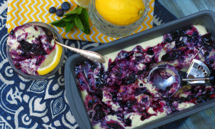 No Churn Blueberry Lemon Ice Cream