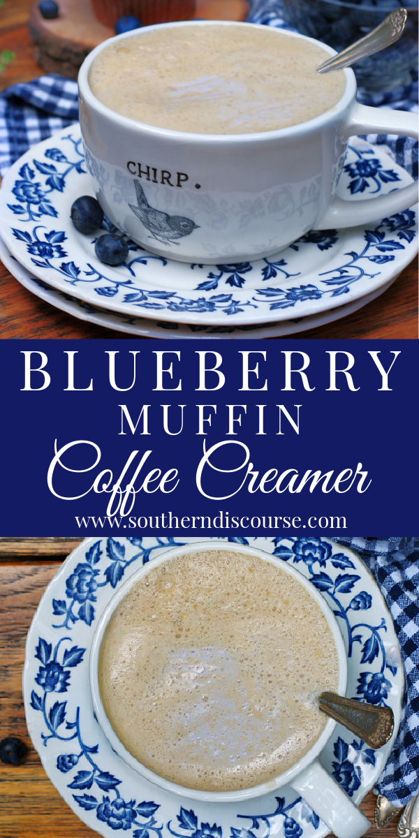 This simple recipe for homemade coffee creamer will have your cozy morning brew tasting like a steaming cup of joe with a side of freshly baked blueberry muffin! Just 5 ingredients and a whisk or a blender is all you need to experience the coffee shop at home!