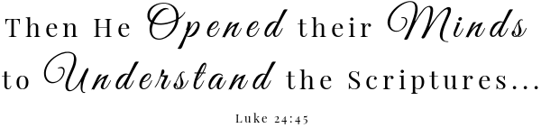 Blueberry Coffee Creamer Scripture- Luke 24:45