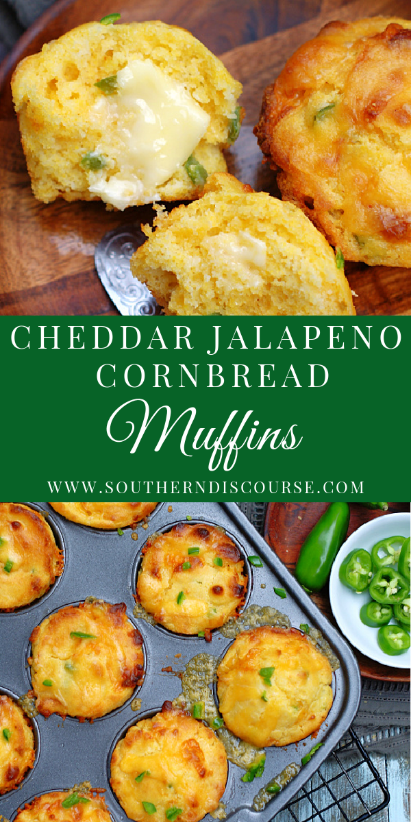 This easy recipe for Homemade Cheddar Jalapeno Cornbread Muffins is so easy t follow. Plenty of cheesy goodness, just the right amount of jalapeno kick with moist tender cornbread.