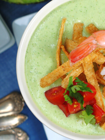 Chilled Avocado Soup Title