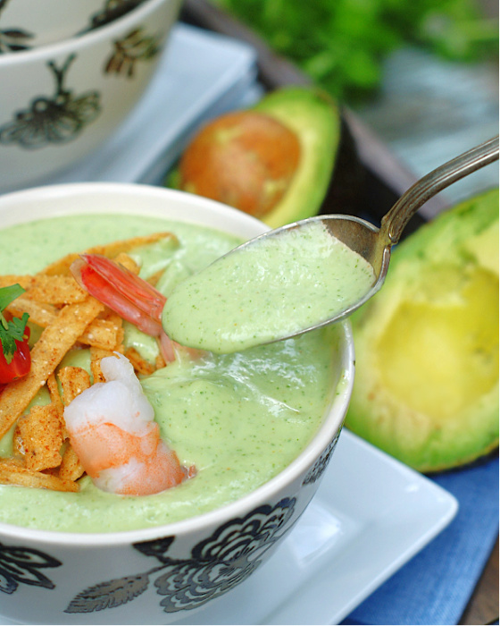 Chilled Avocado Soup Spoonful