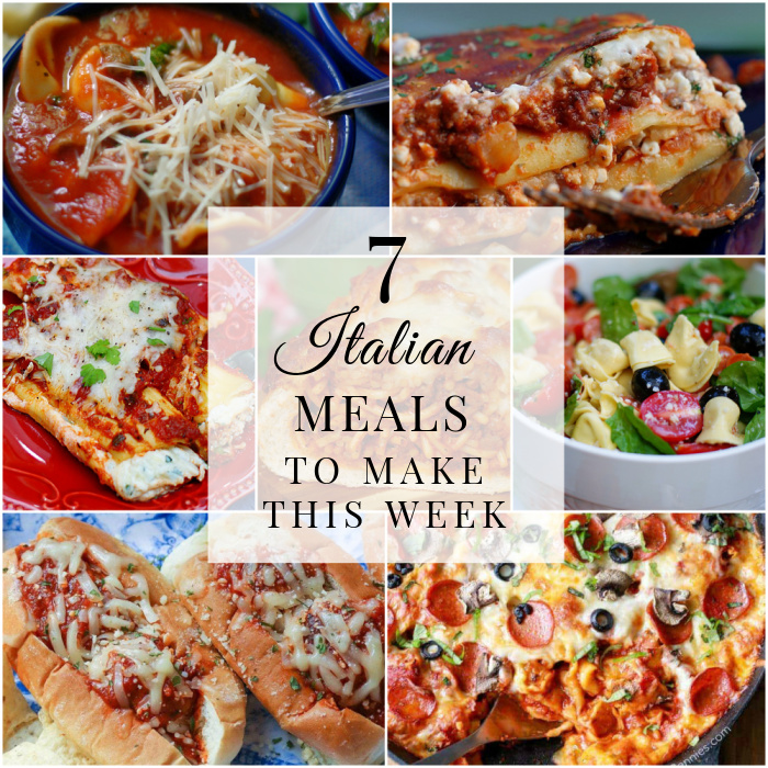 7 Italian Meals Title collage