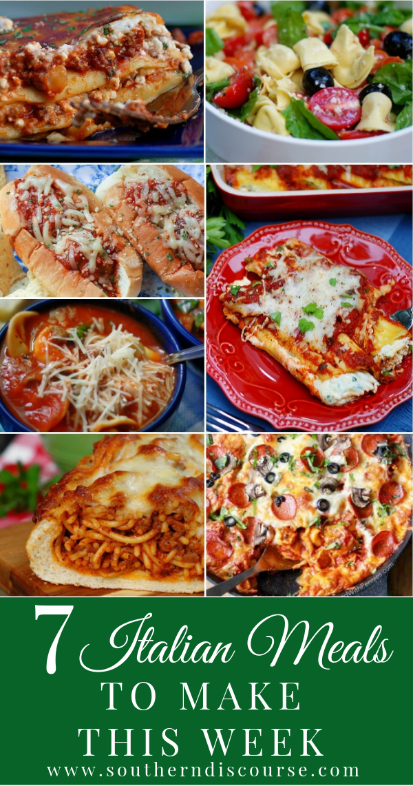 7 easy, delicious Italian style meals that you and your family can enjoy any night of the week! From classic meals to the fun, these nods to Italian flavors are family pleasing comfort foods.