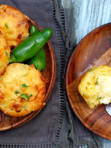 Cheddar Jalapeno Cornbread Muffins Title