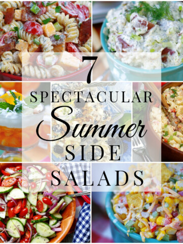 title collage of summer side dishes