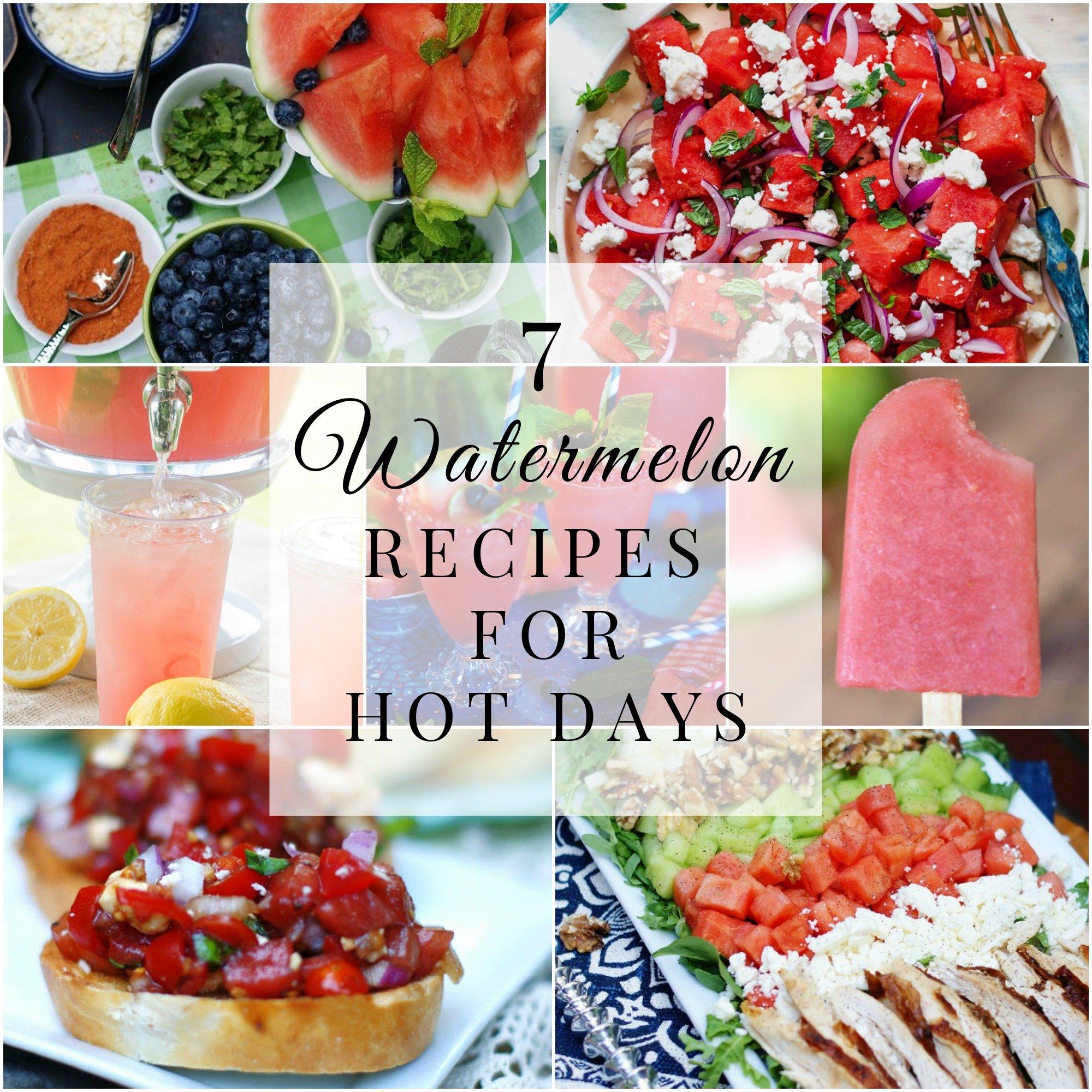 Watermelon recipes title collage