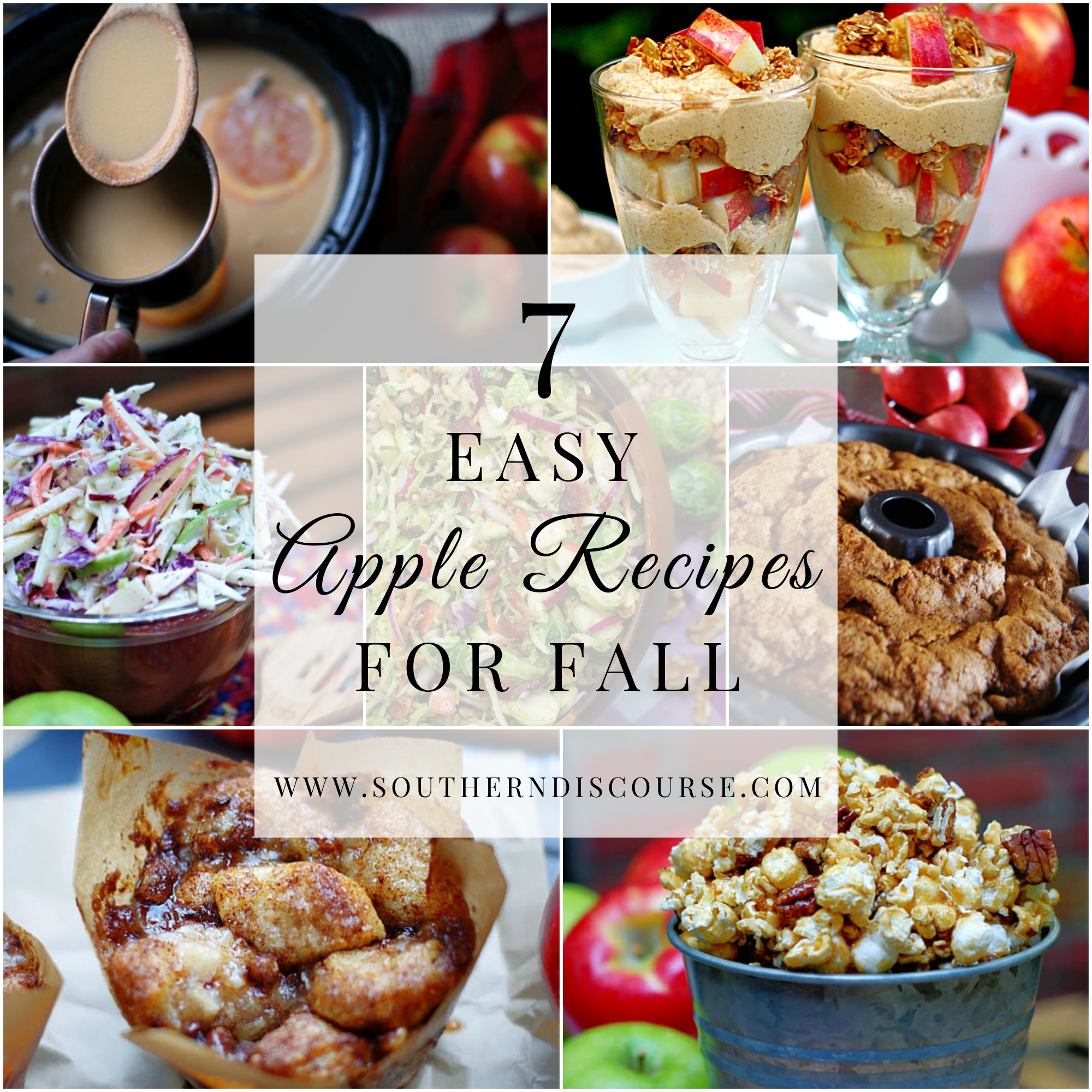 Easy Apple Recipes for Fall Collage