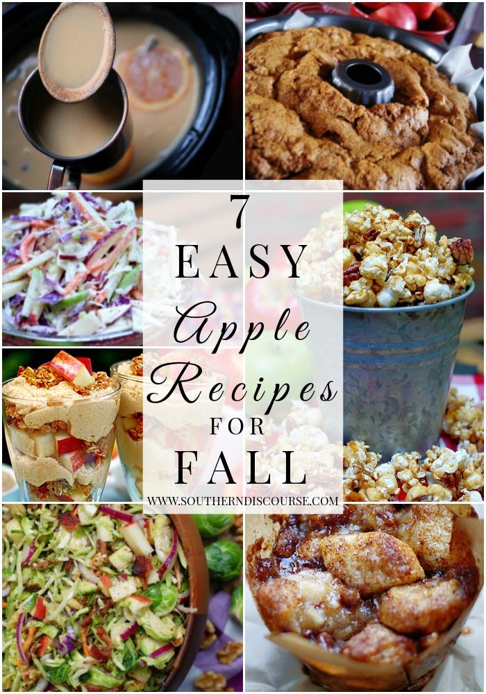 7 easy apple recipes to celebrate fall. From cakes, to cider, to muffins, parfaits and salads, there's something for everyone!