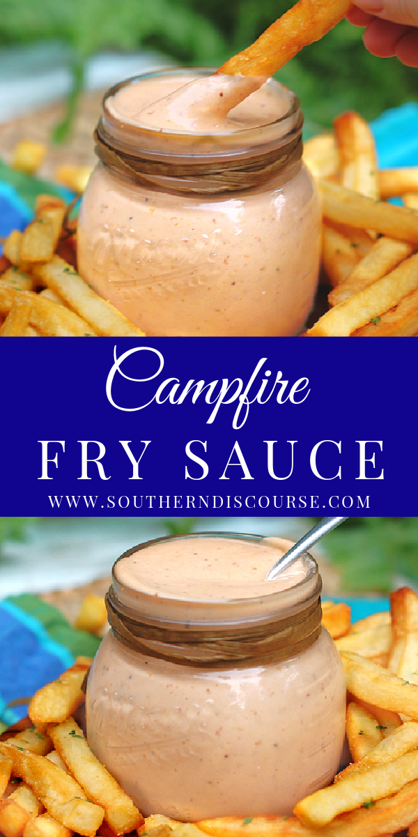 Campfire Fry Sauce is your new easy, 5 minute recipe for the best homemade secret sauce! Savory with a hint of smoky sweetness, this dipping sauce is perfect for fries, onion rings, sandwiches and burgers.