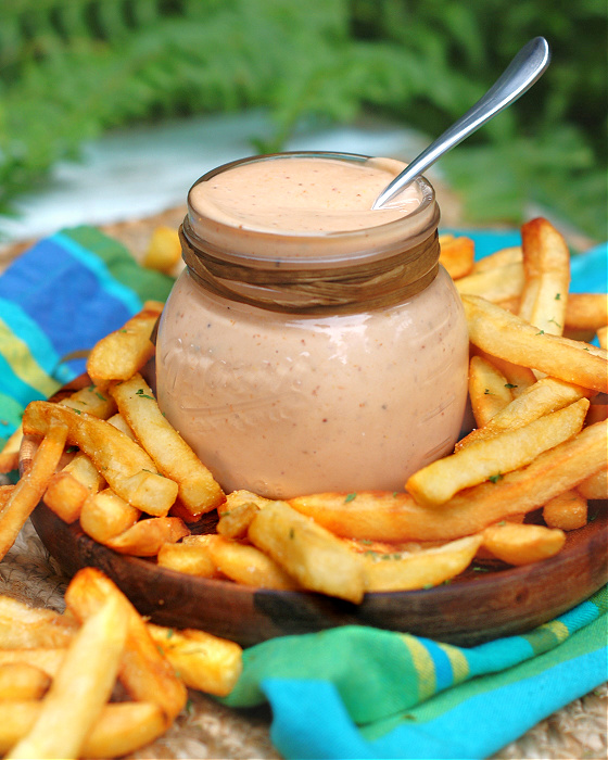 Spicy Campfire Fry Sauce is delicious with french fries.