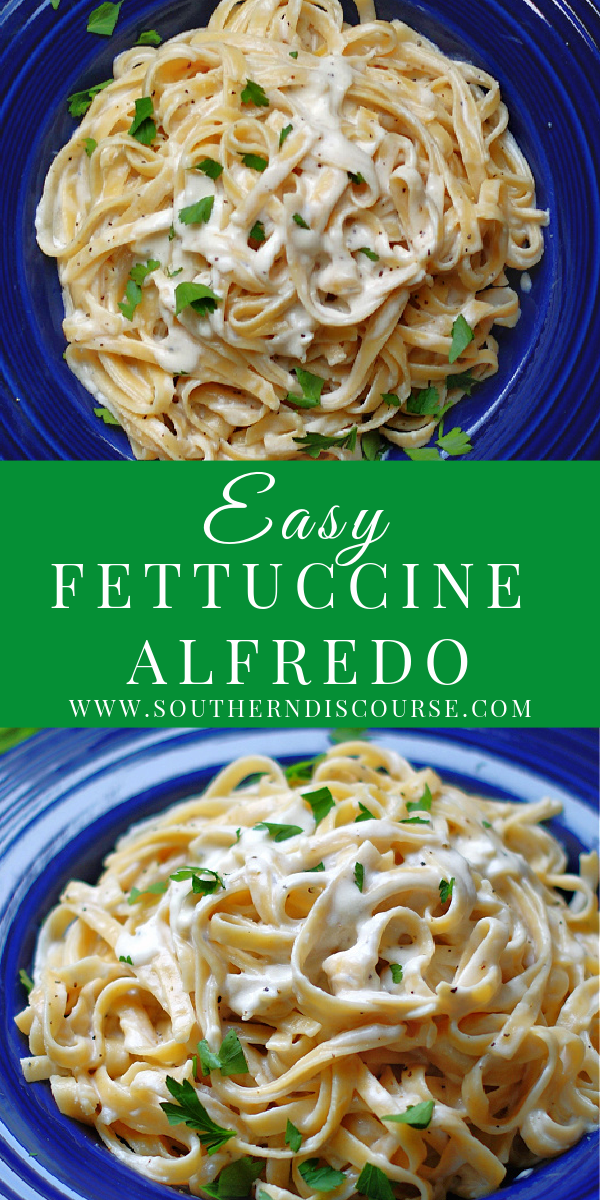 Rich & creamy homemade Fettuccine Alfredo is an easy pasta side dish that you can enjoy any night of the week, even those busy weeknights! This simple recipe comes together in just 20 minutes and is bathed in a flavorful 5 ingredient sauce of Parmesan cheese, warm, melted butter, dreamy cream, savory broth and garlic.