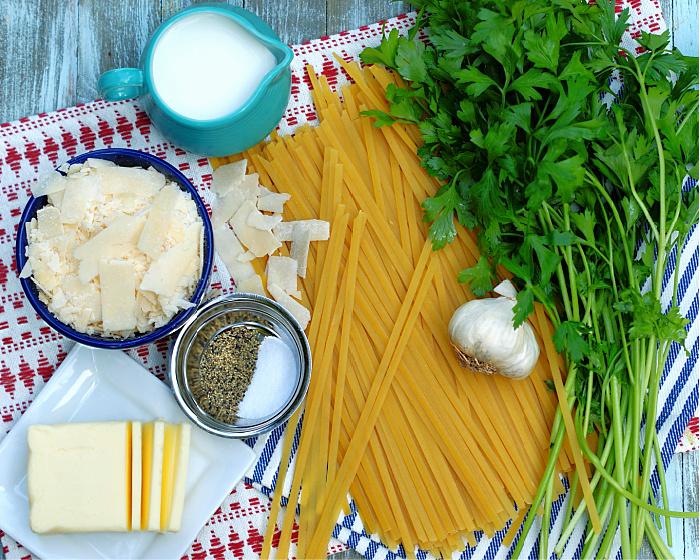Easy fettuccine Alfredo Ingredients