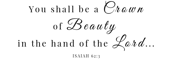 Easy fettuccine Alfredo Scripture - Isaiah 62:3