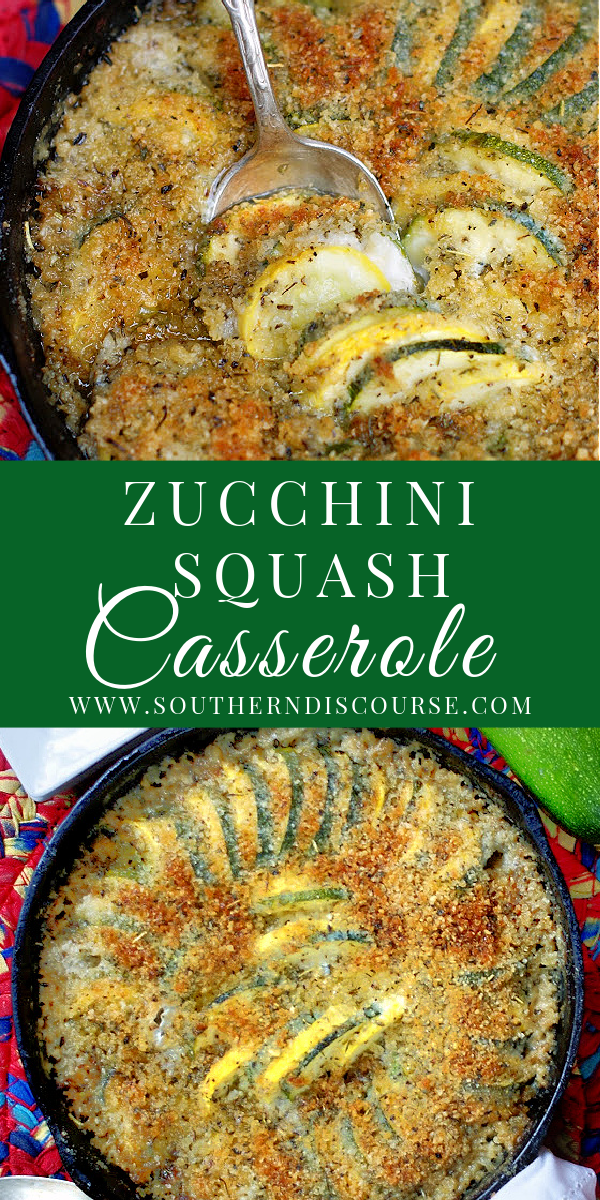Tender zucchini and yellow squash baked in a creamy, savory sauce of mayo, chicken broth, garlic and spices, then topped with a crisp panko and Parmesan topping create a delicious side dish that's perfect for everything from holidays to cookouts!