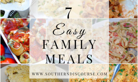 7 Easy Family Meals- Saturday Seven