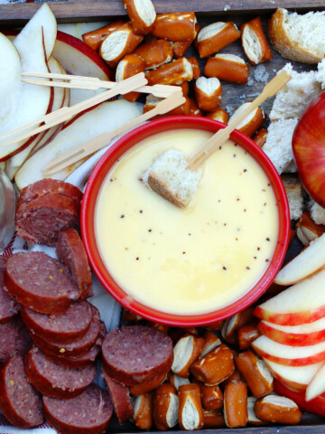 Apple Cheese Fondue Title