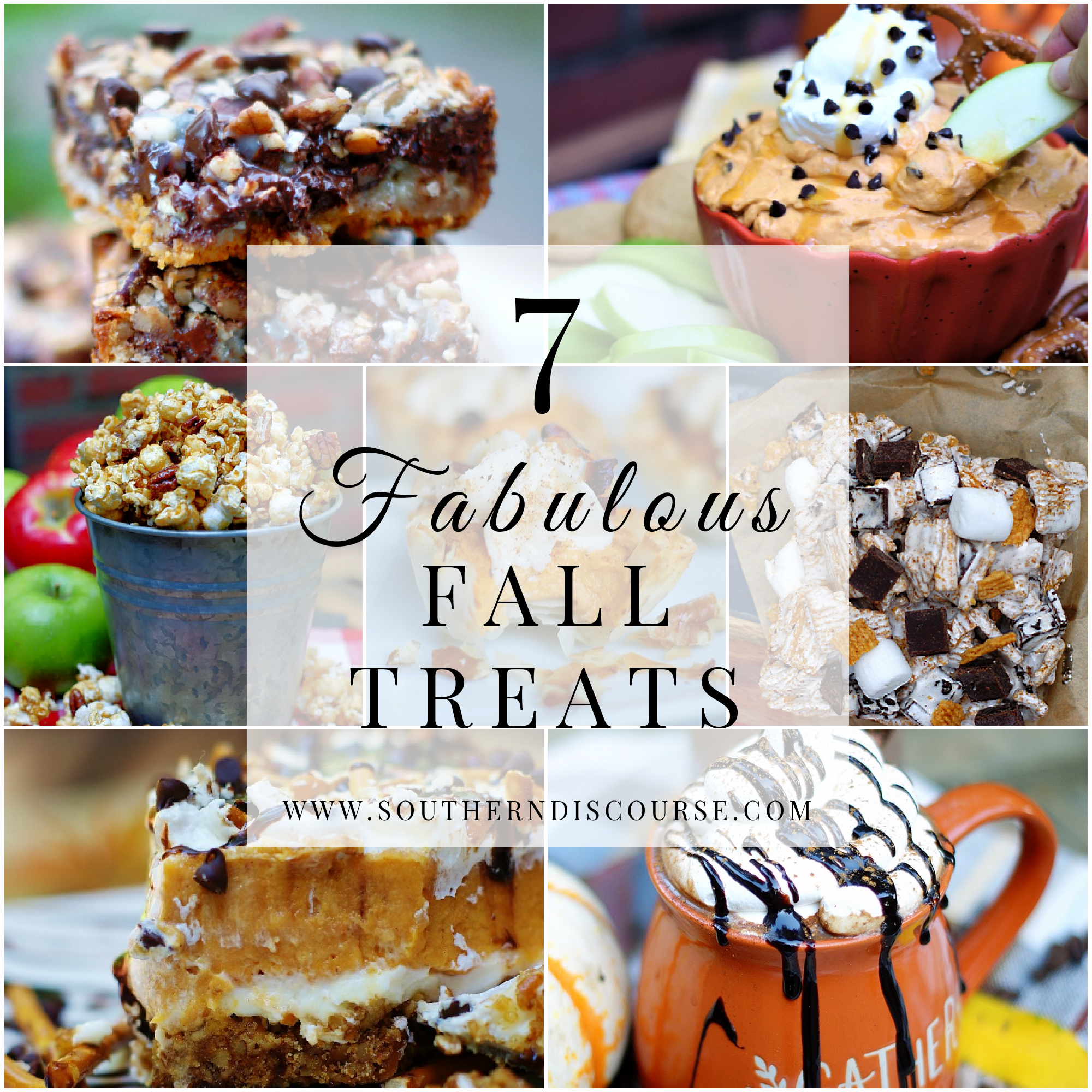 Collage of Fall treat recipes for easy fall baking.