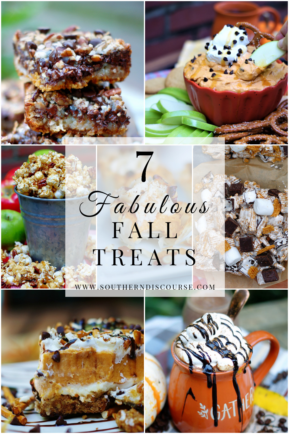From simple pumpkin dessert dip to apple spice popcorn to no bake s'mores, this collection of fall treats and desserts makes the most of the season! 7 fall treat recipes for easy autumn baking.