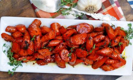 Garlic Honey Glazed Carrots