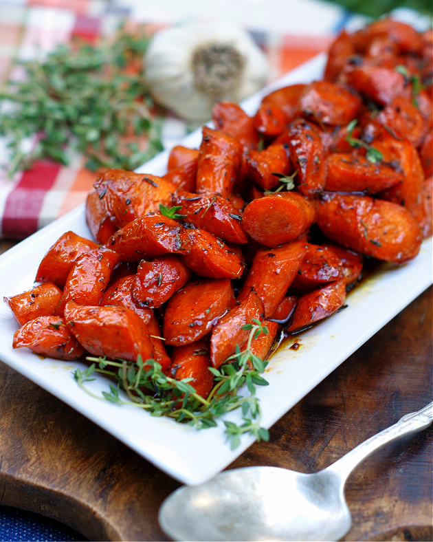 Honey Glazed Garlic Butter Carrots