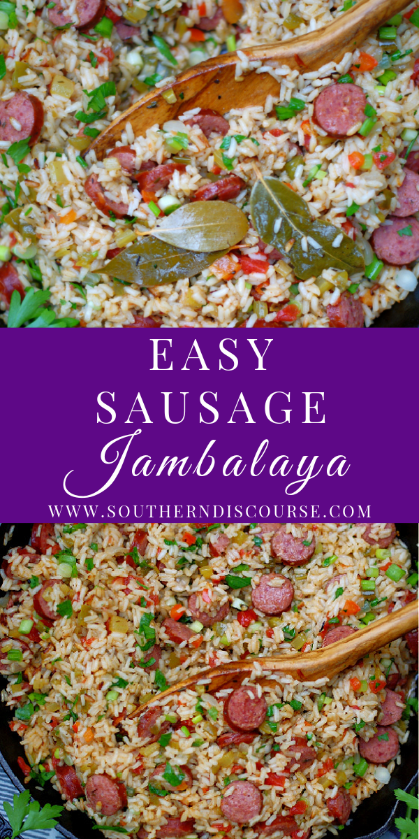 This easy Louisiana classic is a traditional savory rice recipe filled with smoked sausage, bell pepper, onion, celery and creole seasoning. Perfect as a side dish, main dish, Southern holiday favorite! Cajun rice dish, creole rice dish.