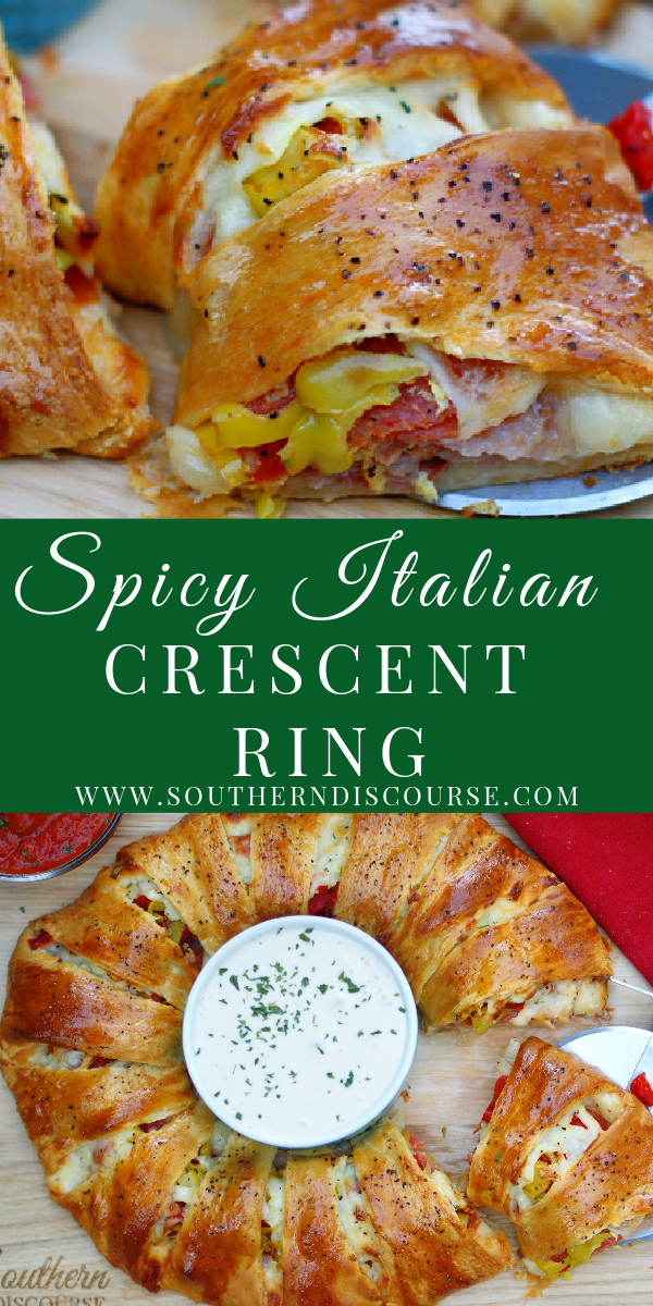 Get all the flavors of your favorite Italian sub sandwich in a tender, flaky crescent ring! Perfect for dinner, parties, tailgates and busy weeknights!