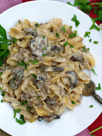 One Pot Beef Stroganoff Title