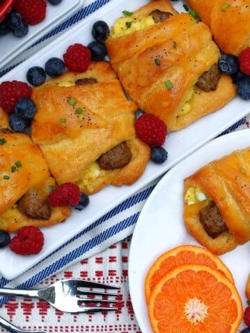 Sausage Egg Crescent Rolls for breakfast