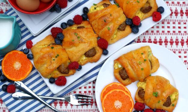 Sausage Egg Crescent Breakfast Bundles