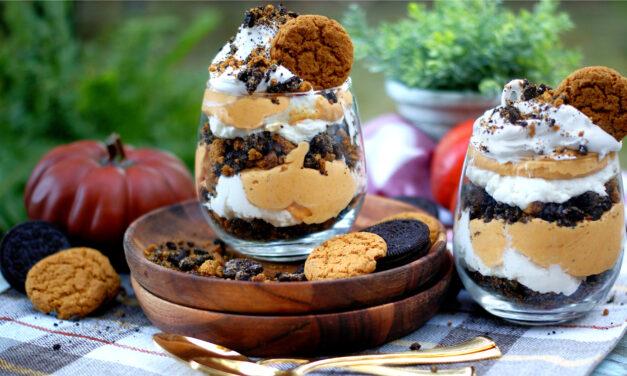 No Bake Pumpkin Cheesecake Trifles