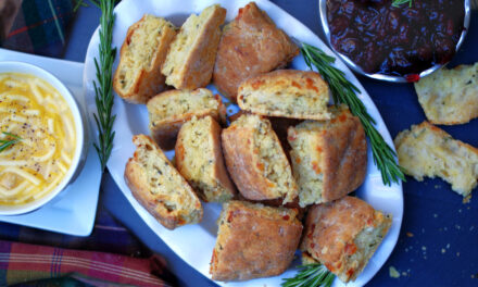 Savory Rosemary Cheddar Biscuits