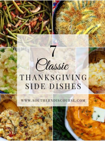 7 classic Thanksgiving side dishes to make ahead and serve on the big day. From Horseradish Mashed Potatoes, to Sweet Potatoes, Cornbread Dressings, to Green Beans, Thanksgiving is all about the sides!