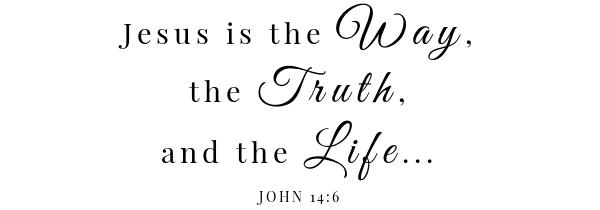 tomato alfredo baked ziti scripture John 14:6