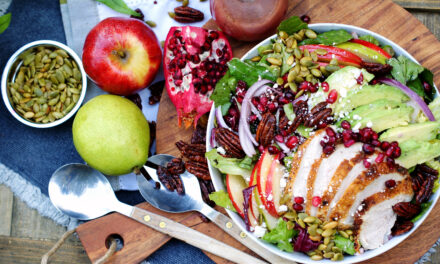 Apple, Pear, Pomegranate Salad with Pomegranate Vinaigrette