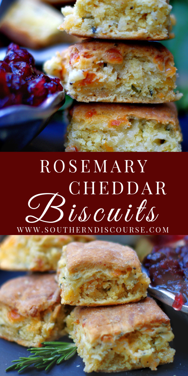 This easy homemade biscuit recipe is filled aromatic rosemary, sharp cheddar, black pepper and brushed with garlic butter for a scrumptious, savory quick bread that's perfect with soups, stews and a perfect side with dinner.