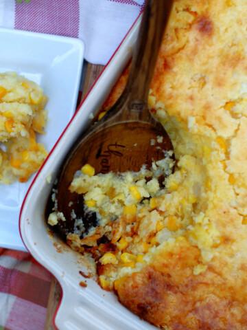 Southern Cornbread Pudding Casserole Title
