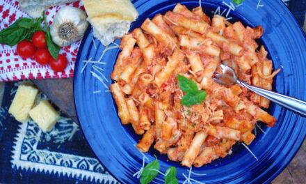 Tomato Alfredo Baked Ziti