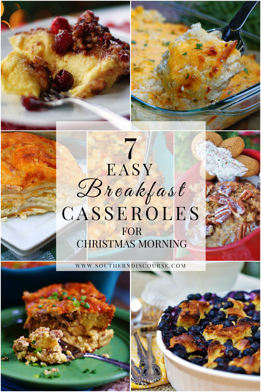 7 easy breakfast casseroles for Christmas morning. 5 quick overnight casseroles and 2 simple breakfast classics to make the day of. From overnight gingerbread oatmeal to a cheesy hashbrown casserole, this collection makes holiday mornings delicious!