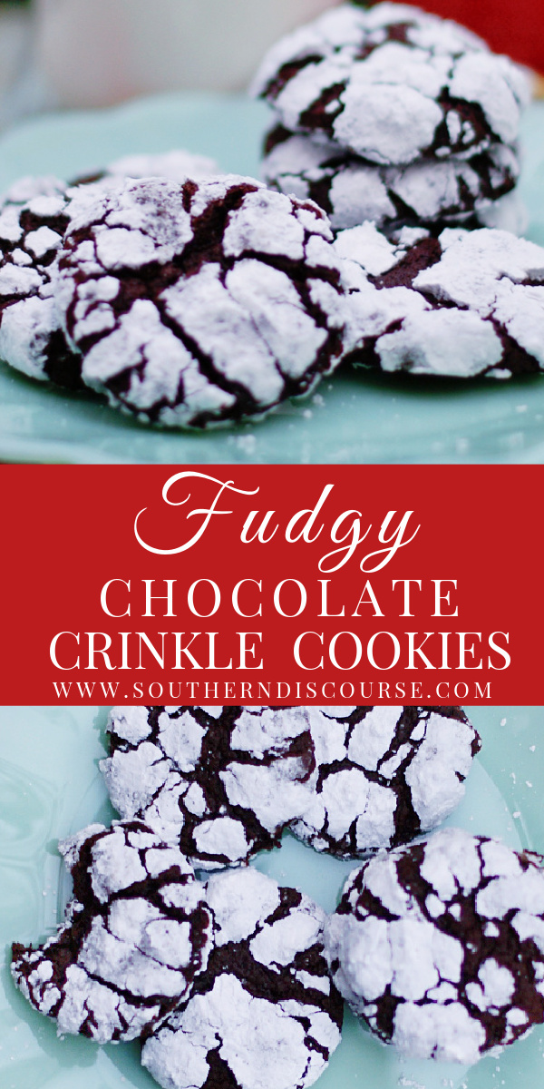 Rich, fudgy chocolate crinkle cookies are part brownie and part cookie! This easy recipe makes the best soft, dark chocolate crinkle cookies using baking chocolate and dark cocoa powder.