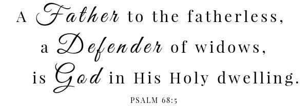 Lyonnaise Potatoes Scripture Psalm 68:5