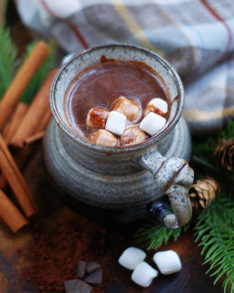 Mexican Hot Chocolate with marshmallows