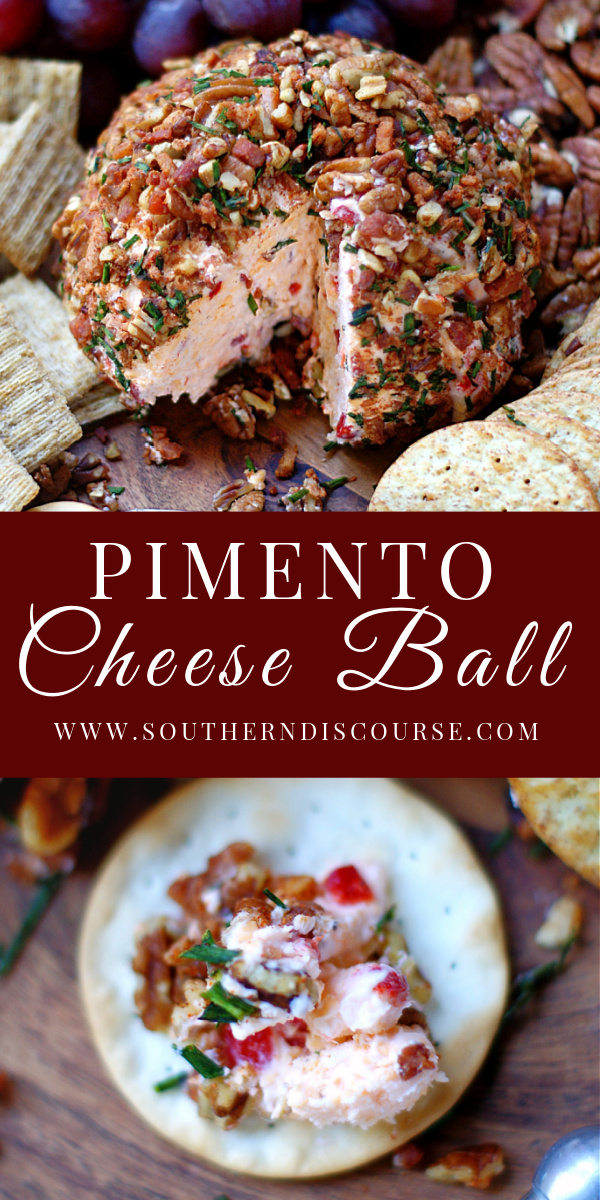 Our favorite southern Pimento Cheese Ball is always a holiday party, tailgate, or weekend go-to! Rolled in pecans, bacon and chives this cheeseball is all about the sharp cheddar, cream cheese & zesty pimentos!