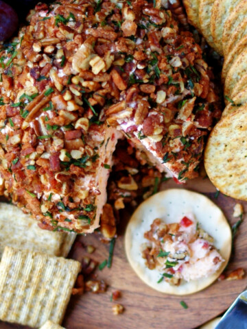 Favorite Southern Pimento Cheese Ball Title
